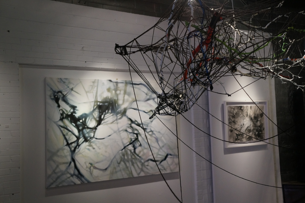 SNAG - with the painting Light, Nexus, that completes the installation