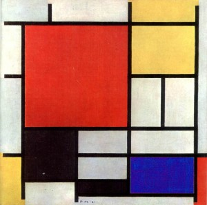 Piet Mondrian - Composition with Large Red Plane, Yellow, Black, Grey and Blue - 1921
