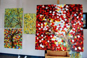 Trees in my Dallas Studio
